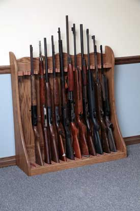 Gun Rack for Closet Storage