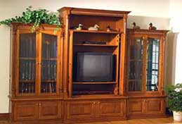 Custom Gun Cabinet and Entertainment Center