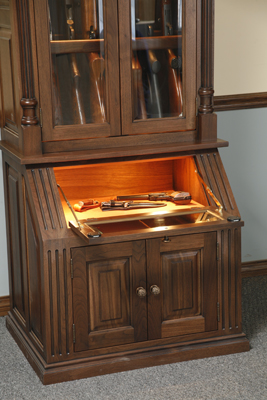 how to make a wooden gun cabinet