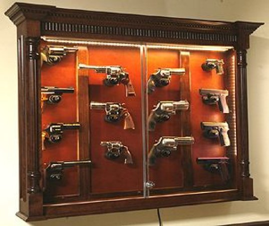 Gun Display Case Cabinet