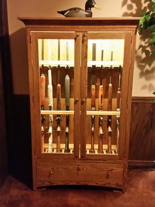 Costa Custom 10 Gun Short Secure Gun Cabinet Amish