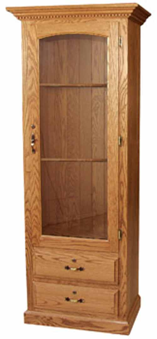 Amish-Furniture-2drawer-gun-cabinet-small & Custom Gun Cabinets - Images and Details - Amish Custom Gun Cabinets