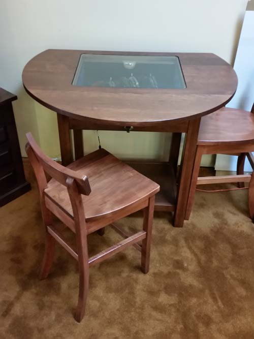 Drop Front Glass Top Display Table 20160812 110556