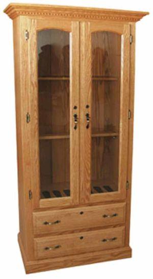 Amish-Furniture-2drawer-gun-cabinet