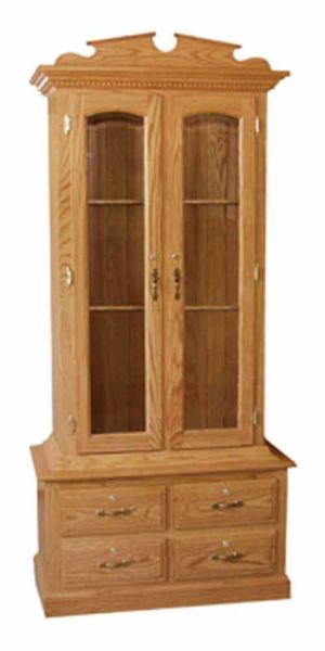 Amish-Furniture-4drawer-gun-cabinet