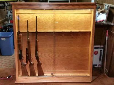 Allen Corner Vertical Wall Gun Cabinet