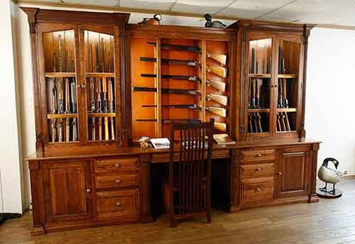 Amish Custom Gun Cabinet Idea Gallery - Amish Custom Gun Cabinets