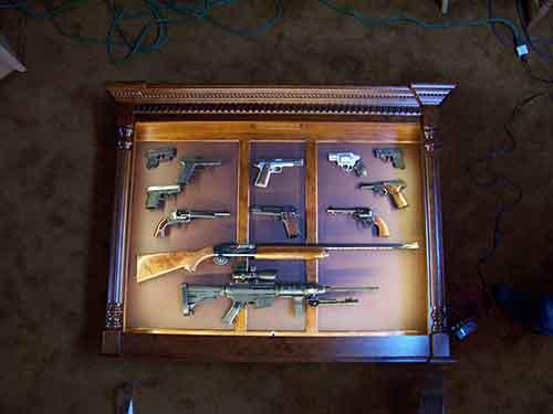 Amish Custom Crafted Pistol Long Gun Display Amish