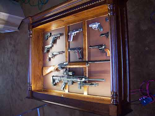 Amish Custom Crafted Pistol/Long Gun Display - Amish Custom Gun ...