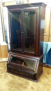 AmishProfile Gun Cabinet in cherry