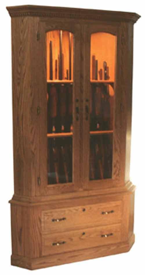Amish Gun Cabinets In Standard Designs Amish Custom Gun Cabinets