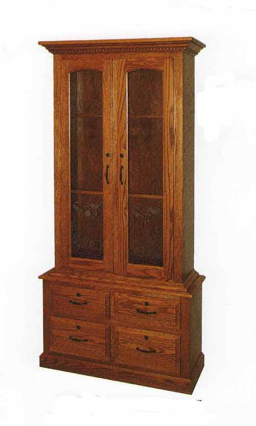Amish Gun Cabinets In Standard Designs Amish Custom Gun Cabinets
