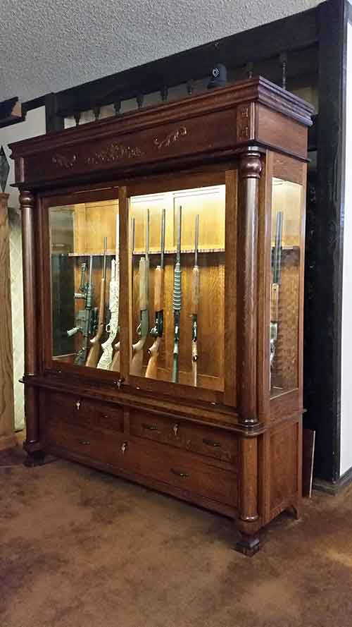 Nichols-Amish-Gun-Cabinet-153541 - Amish Custom Antique Reproduction Gun Cabinet - Amish Custom Gun