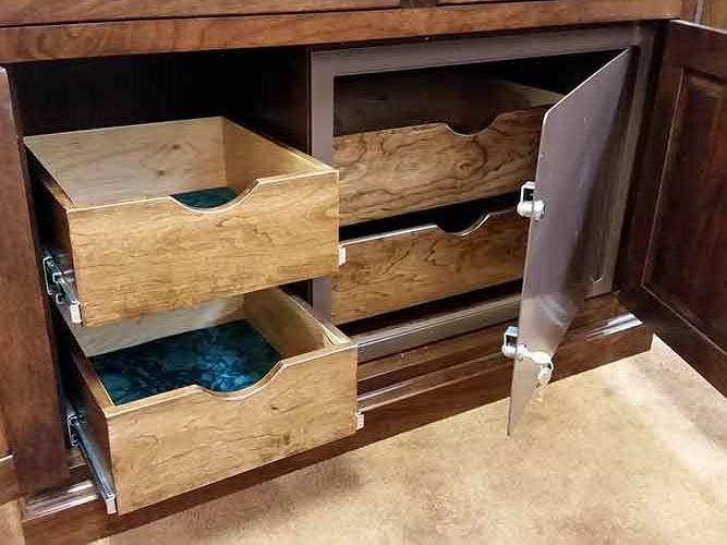 Amish Custom Gun Cabinet with Safe - Amish Custom Gun Cabinets