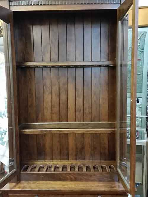 Amish Custom Gun Cabinet With Safe Amish Custom Gun Cabinets