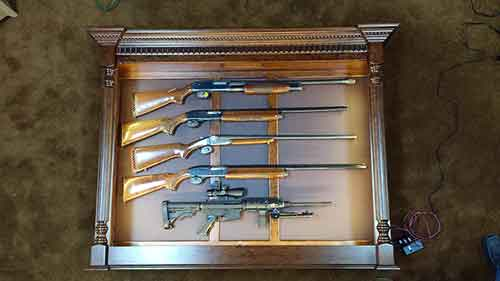 Amish Custom Pistol Displays Amish Custom Gun Cabinets