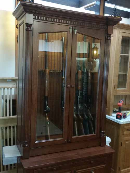 12 Gun Cabinet 5 Drawers Plus Cleaning Shelf Quot Fancy Quot Style