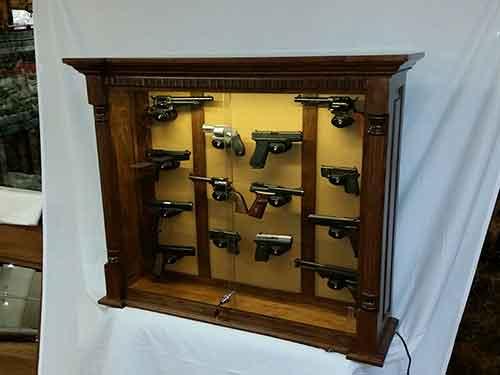 Ciesla Amish Pistol Display Cabinet 025
