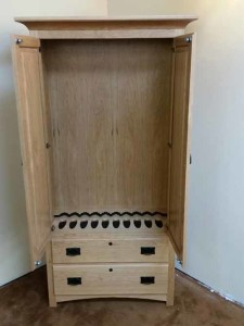 Clear cherry mission style 10 gun cabinet