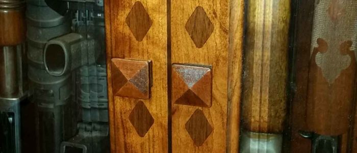 gun cabinet door inlays