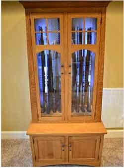 Amish Custom Crafted Gun Cabinets